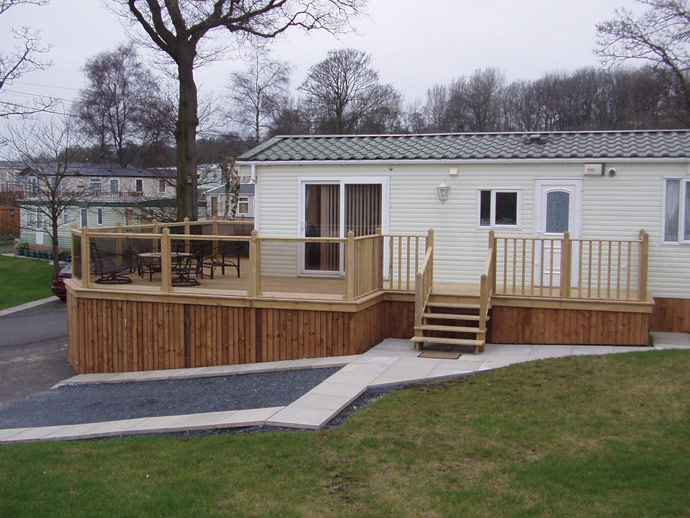 Elegant Caravan Decking Ideas Surprising Garden Carpentry Timber