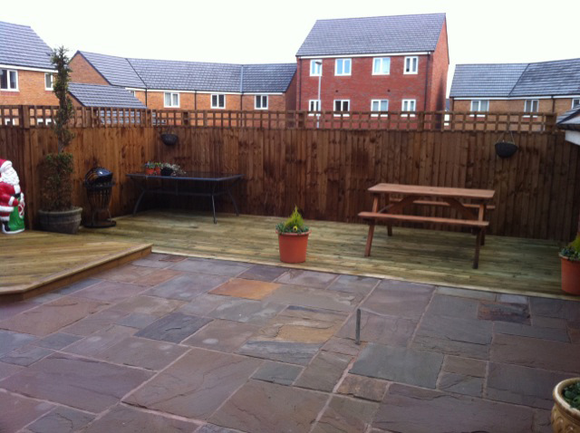 Flagging fitting | Williamsons Decking, Fencing & Flagging Suppliers and Services