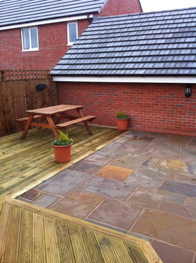 Flagging fitting serivce | Williamsons Decking, Fencing & Flagging Suppliers and Services